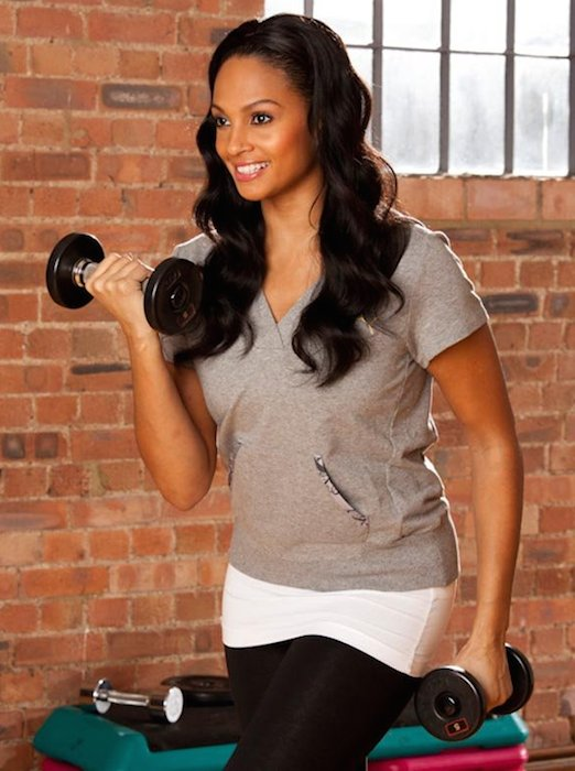 Alesha Dixon weight training workout
