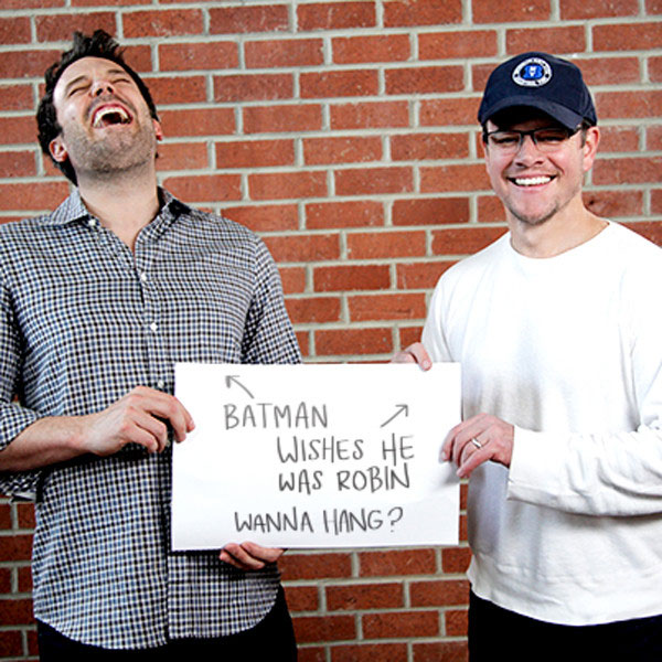 Ben Affleck and Matt Damon BFF