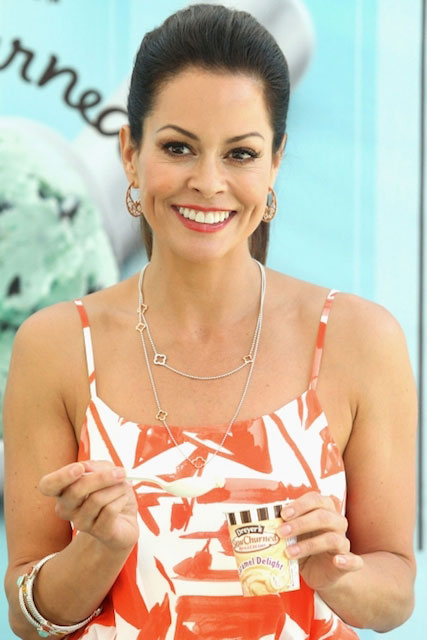 Brooke Burke eating ice-cream on her cheat day