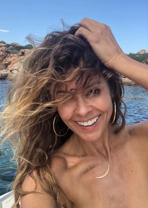 Brooke Burke on the Italian island Sardinia in August 2018