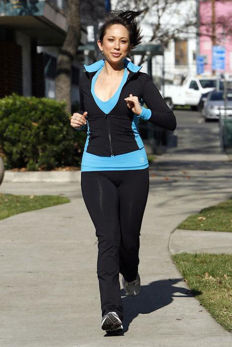 Cheryl Burke in her workout gear
