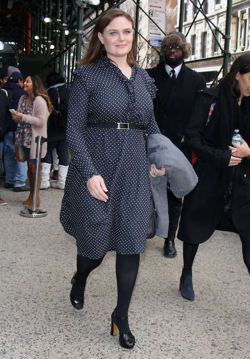 Emily Deschanel out in New York in January 2017