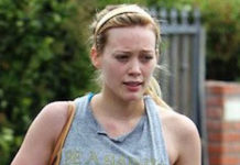 Hilary Duff workout