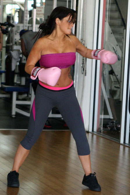 JWoww boxing workout