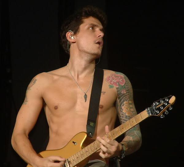 John Mayer shirtless