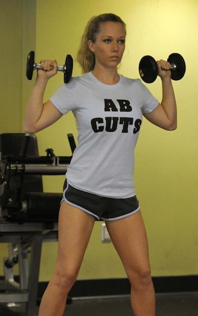 Kendra Wilkinson workout