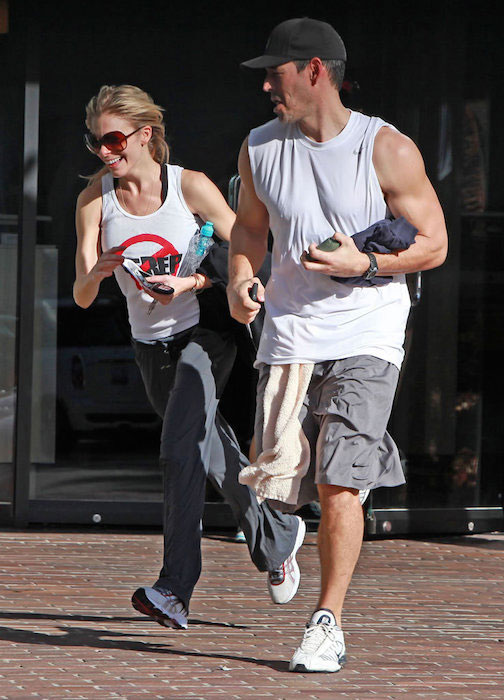 LeAnn Rimes working out with hubby Eddie Cibrian
