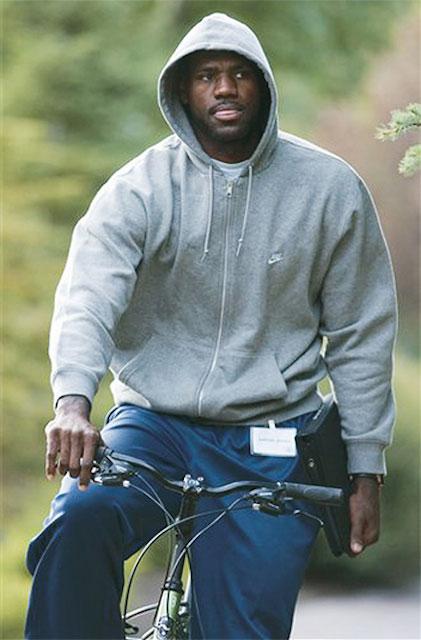 LeBron James cycling