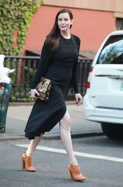 Liv Tyler's casual style out in West Village New York City in May 2014