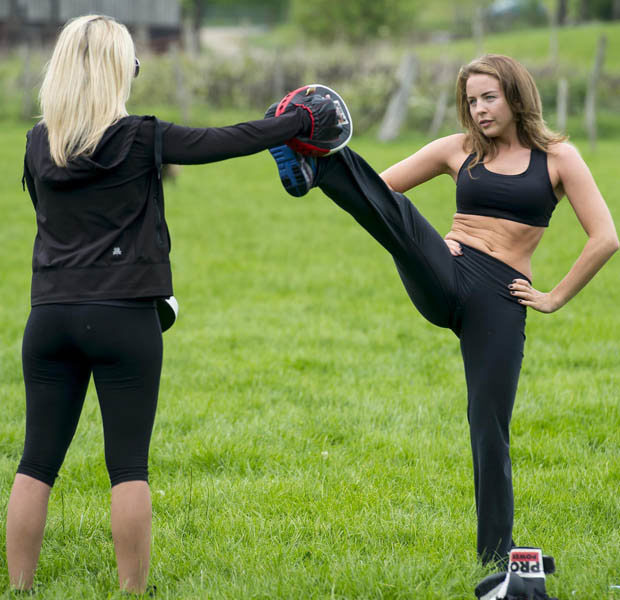 Lydia Bright Scissor Kicking