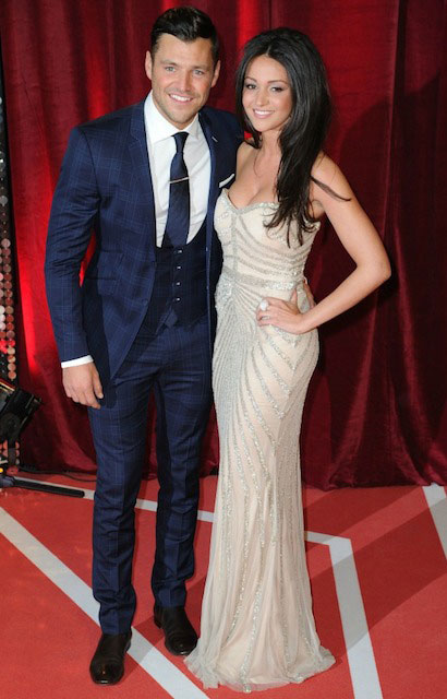 Michelle Keegan and Mark Wright at Soap Awards.