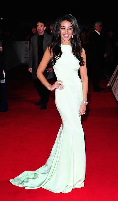 Michelle Keegan wearing Philip Armstrong Atelier Gown at NTAs London in January 2014