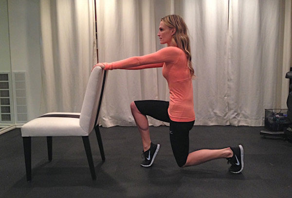 Molly Sims chair workout
