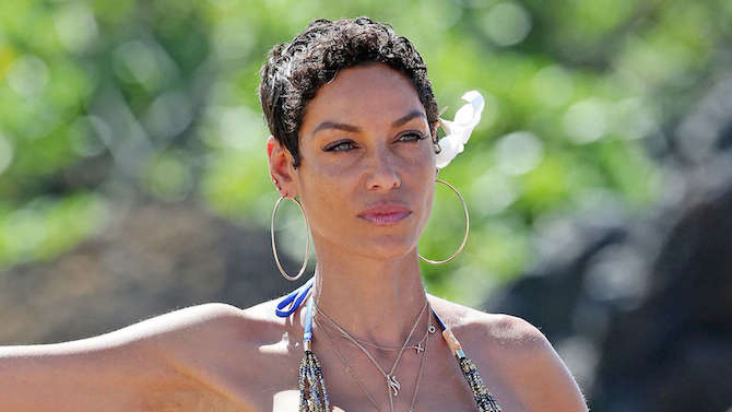 Nicole Murphy in bikini in 2014 Maui in Hawaii