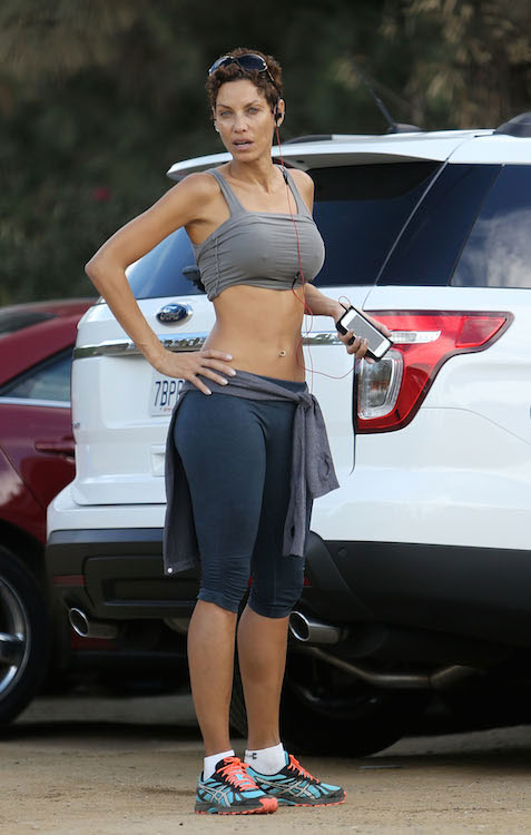 Nicole Murphy in workout gear