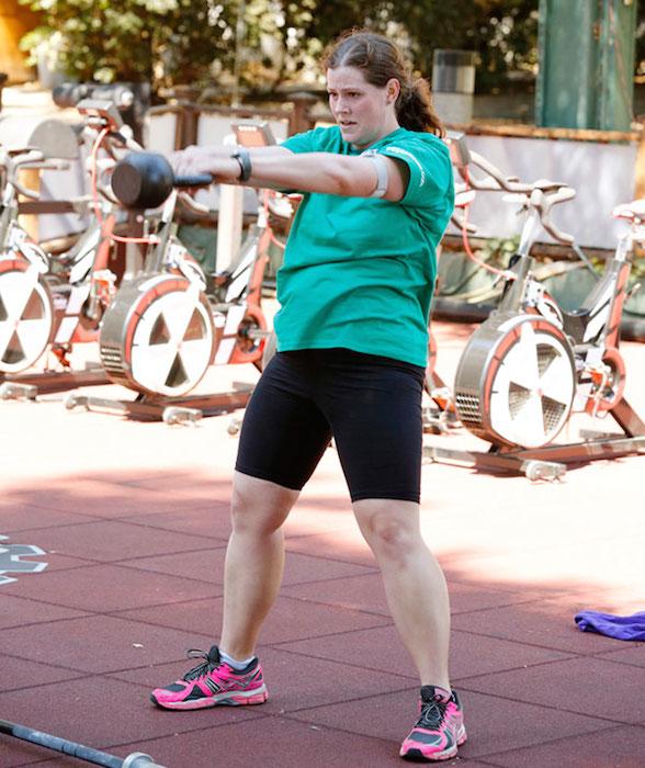 Rachel Frederickson exercising