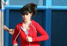 Zooey Deschanel running workout