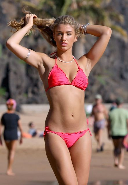 Amy Willerton in a bikini at beach in Tenerife in April 2014