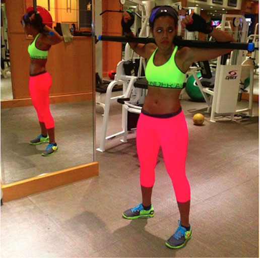 Angela Simmons fitness schedule