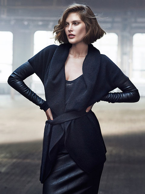 Catherine McNeil for Donna Karan Resort 2014 Campaign
