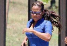 Christina Milian running