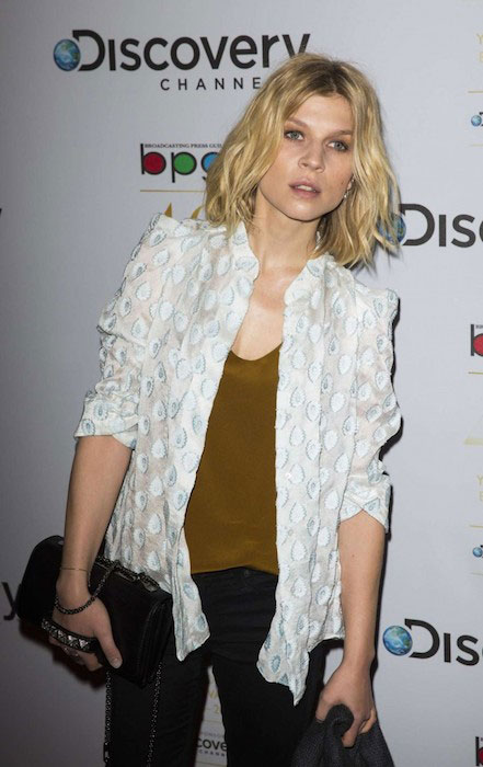 Clemence Poesy at Broadcasting Press Guild Awards 2014 in London.