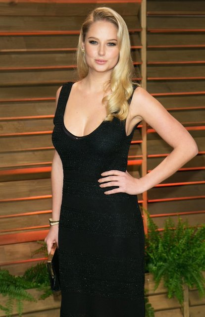Genevieve Morton at Vanity Fair Oscar Party 2014.