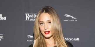 Hannah Davis for Sports Illustrated MVP Night in New York City in January 2014