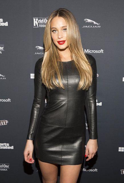 Hannah Davis for Sports Illustrated MVP Night in New York City in January 2014
