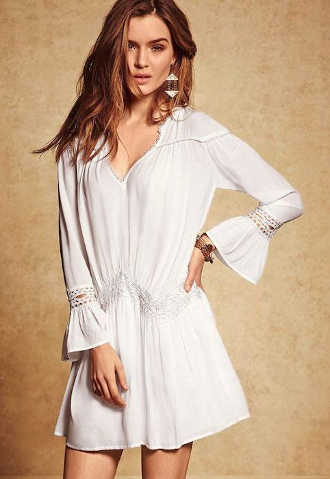 Josephine Skriver posing for Victoria's Secret for March 2014 Catalog.