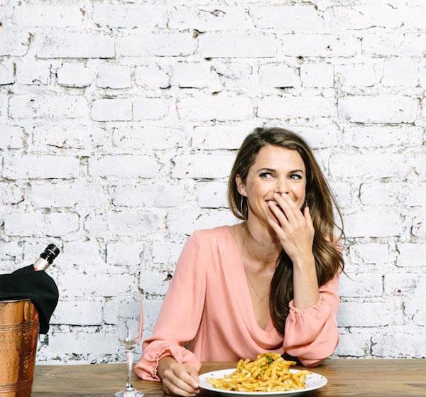 Keri Russell eating food
