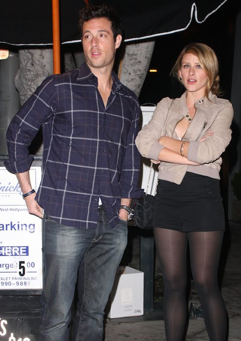 Lo Bosworth and Scott Hochstadt outside Guys & Dolls nightclub in West Hollywood.