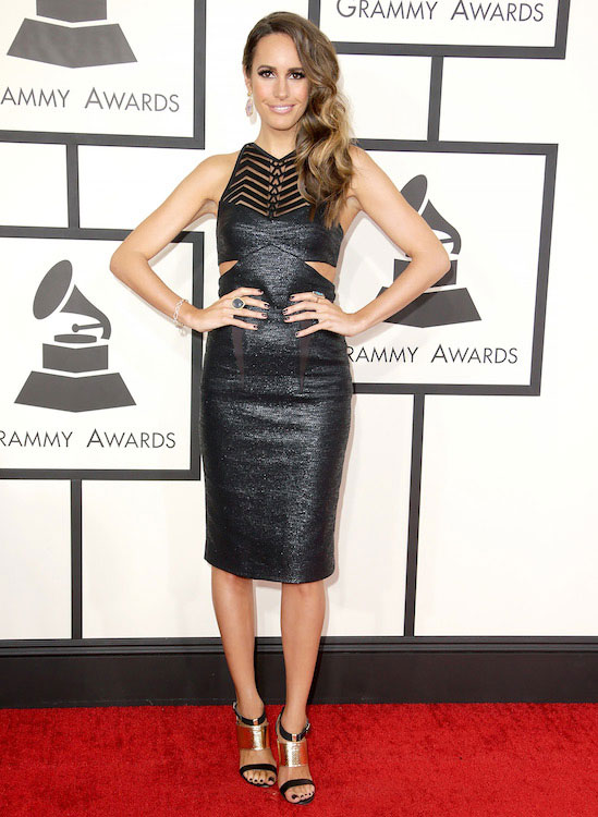 Louise Roe during Grammys 2014