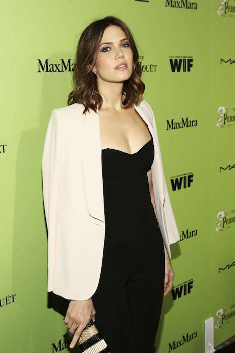 Mandy Moore at 2014 Women In Film Pre Oscar Cocktail Party.