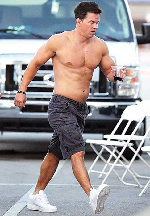 Mark Wahlberg showing chiseled shirtless body
