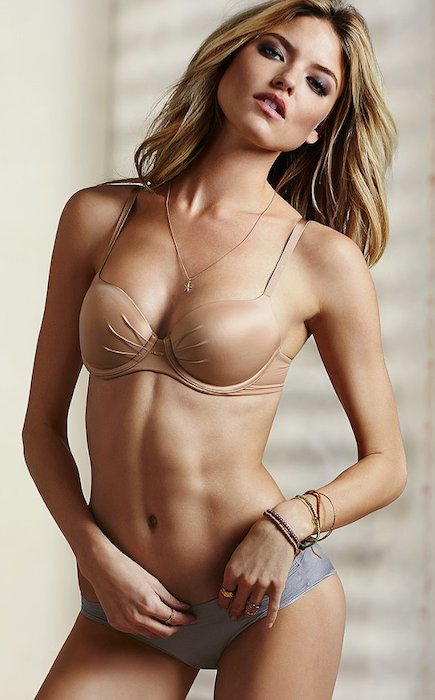 Martha Hunt at Victoria's Secret lingerie photo shoot.