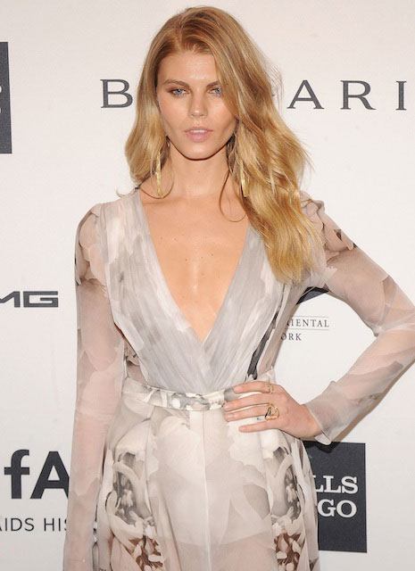 Maryna Linchuk at 2014 amfAR New York Gala