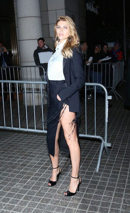 Maryna Linchuk at 'The Amazing Spider Man 2' premiere at the Ziegfeld Theater