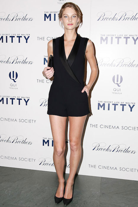 Maryna Linchuk at The Brooks Brothers screening of The Secret Life of Walter Mitty