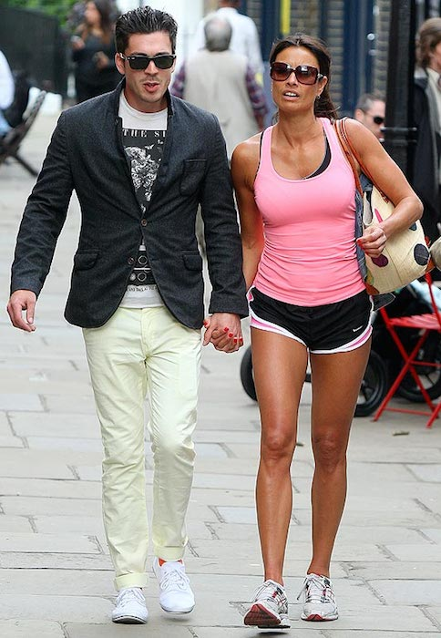 Melanie Sykes and her ex-boyfriend Jack Cockings.