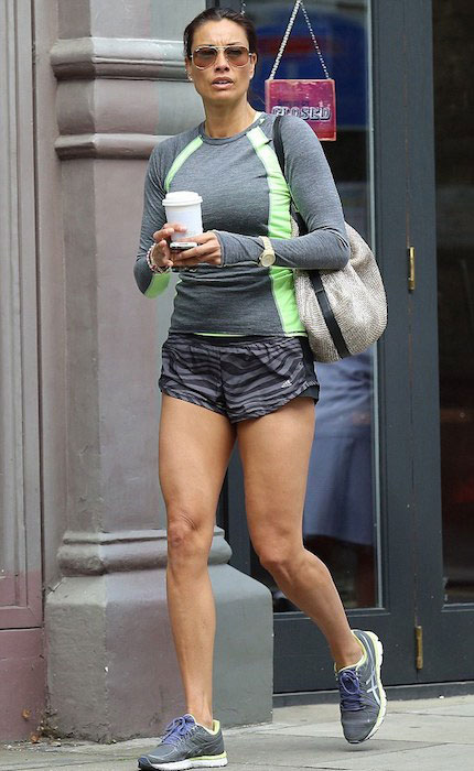 Melanie Sykes heading towards the gym