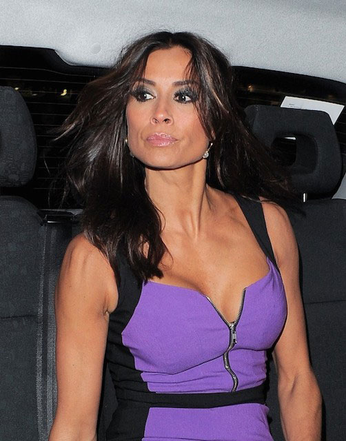 Melanie Sykes leaving the Pro Lashes Beauty Launch Event