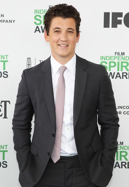 Miles Teller at 2014 Film Independent Spirit Awards.