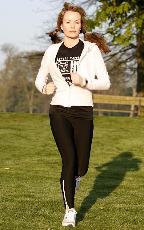Amanda Holden running