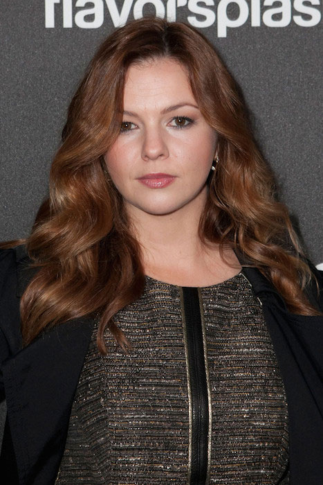 Amber Tamblyn at HFPA 2014 Golden Globe Awards.