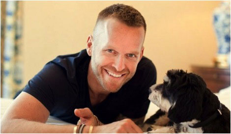 Bob Harper with his dog