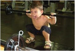 Child doing squats