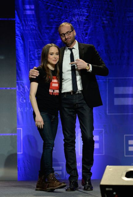Ellen Page at HRC's Time to Thrive Conference in February 2014