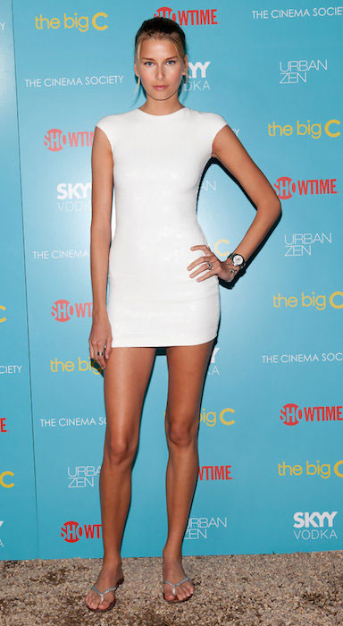 Hana Soukupova attends the Showtime with The Cinema Society screening of 'The Big C' at the private home of Donna Karan.