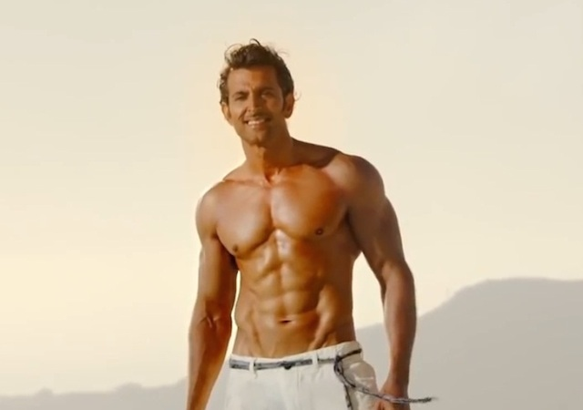 Hrithik Roshan Eight pack abs